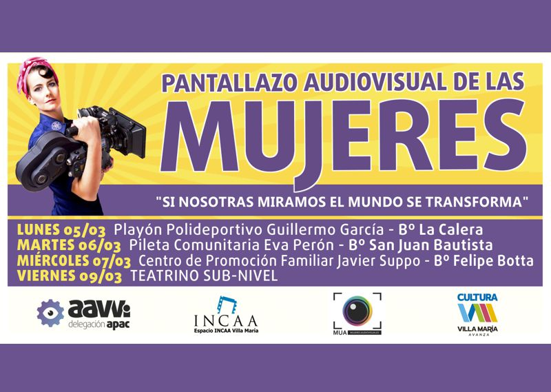 Pantallazo Audiovisual de las Mujeres 2018