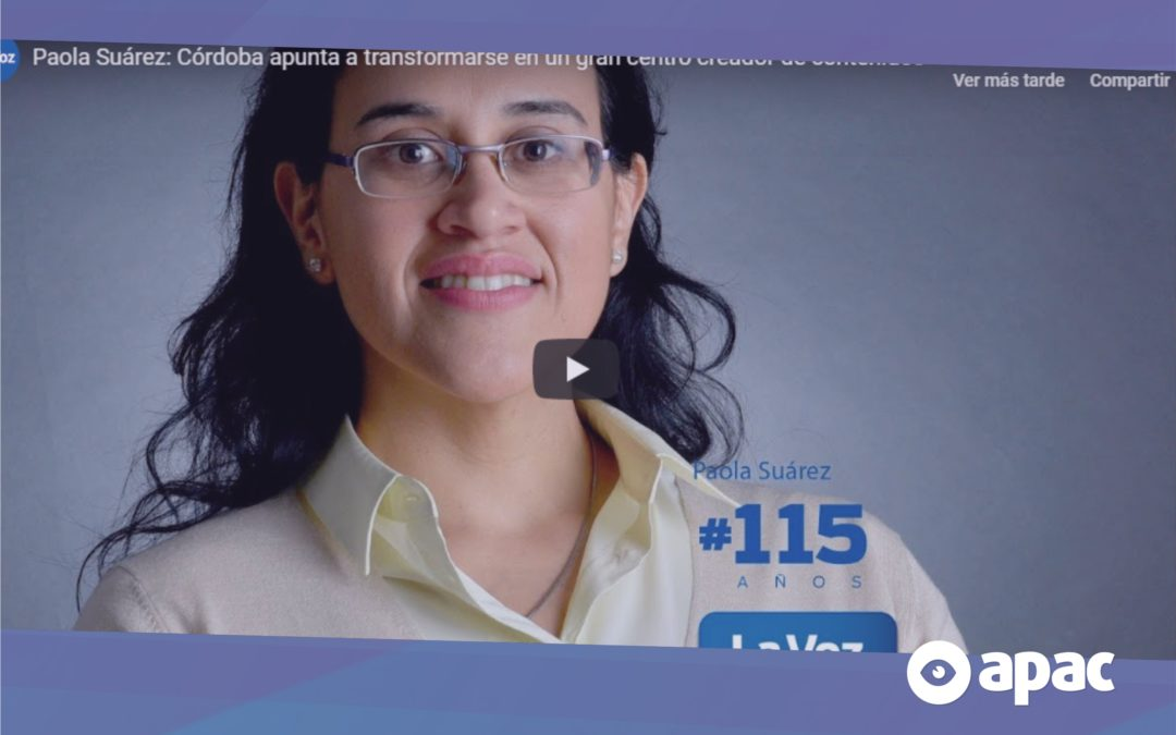 Nota a Paola Suárez en La Voz