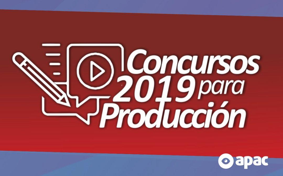 Están abiertos los concursos para producción 2019