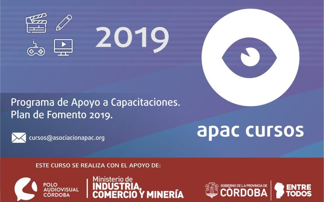 Cursos APAC 2019. Inscripciones abiertas