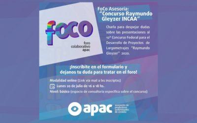 Foro Colaborativo APAC para presentaciones en el Concurso Raymundo Gleyzer 2020